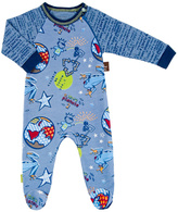 Kushies Blue Planet Organic Cotton Sleeper - Infant