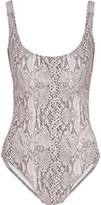 Norma Kamali Snake-print swimsuit