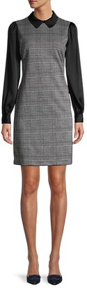 Tommy Hilfiger Long-Sleeve Houndstooth Sheath Dress
