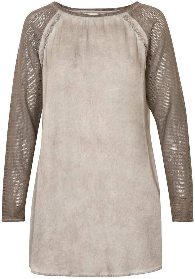 Cream Washed Dyed Tunic