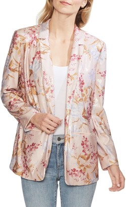 Vince Camuto Open Front Graceful Wildflower Blazer