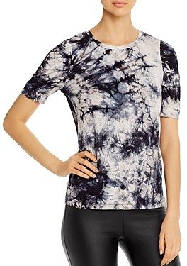 Design History Tie-Dyed Pleat Detail Tee
