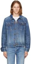 Saint Laurent Blue Washed Denim Jacket