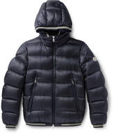 Moncler Jeanbart Quilted Shell Hooded Down Jacket - Navy