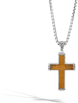 John Hardy Classic Chain Cross Necklace with Black Jade