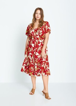MANGO Tropical print dress