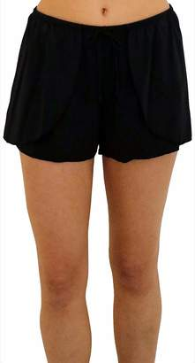 Fit 4 U Women's Swim Drawstring Wrap Short