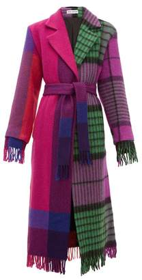 Rave Review - Lola Single-breasted Upcycled-blanket Wool Coat - Womens - Multi