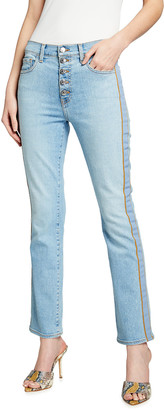 Veronica Beard Jeans Carolyn High-Rise Baby Boot-Cut Jeans