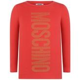 Moschino MoschinoGirls Red Studded Logo Maxi Top