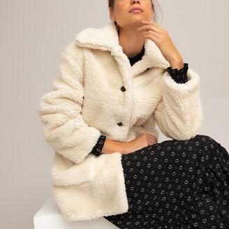 La Redoute Collections Teddy Faux Fur Buttoned Coat