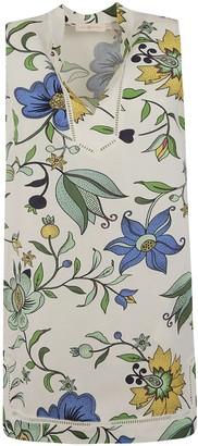 Tory Burch Floral Sleeveless Short Dress