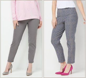 Women With Control Petite Prime Stretch Reversible Ankle Jeans