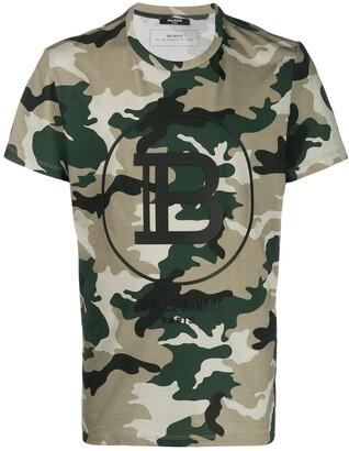 Balmain camouflage-print T-shirt