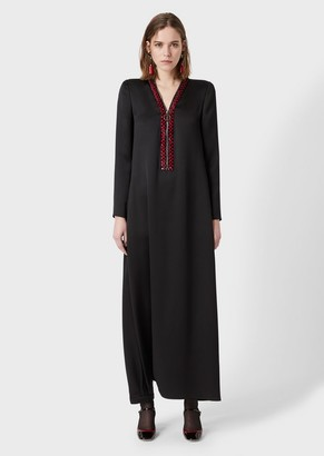 Giorgio Armani Sequinned Silk Dress