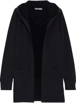 Stateside Cotton-blend Fleece Hooded Cardigan