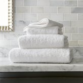 Crate & Barrel Egyptian Cotton White Bath Towels