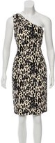 Michael Kors Abstract Print One-Shoulder Dress