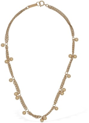 Isabel Marant Oh Short Necklace W/ Multi Bead Charms