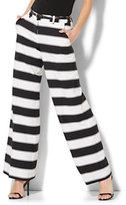 New York & Co. Palazzo Pant - Black & White Stripe