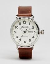 Ingersoll Trenton Quartz Chronograph Leather Watch In Brown