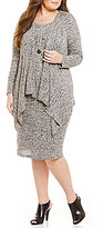R & M Richards Plus Mock 2-Piece Necklace Jacket Dress