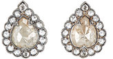 Cathy Waterman Women's Mixed-Diamond Teardrop Stud Earrings