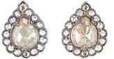 Cathy Waterman Women's Mixed-Diamond Teardrop Stud Earrings