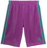 adidas Shock Purple & Shock Mint Triple-Up Shorts - Girls