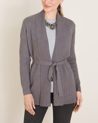 Chico's Cable-Detail Cardigan Sweater
