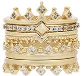 Kendra Scott Violette Ring Set of 5 in Metallic Gold