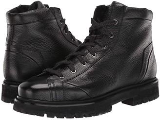 Santoni Mountain Lace-Up Boot (Black) Men's Shoes