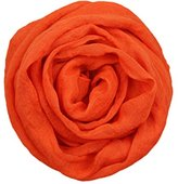 Boys Girls Collar Baby Scarf Cotton Neck Ninasill Scarves (orange)