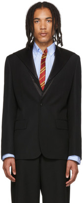 Sankuanz Black Sailor Collar Blazer