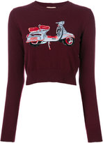 No.21 motorcycle print sweater