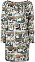Burberry printed shift dress - women - Cotton/Spandex/Elastane - 8