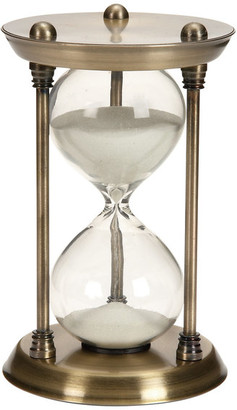 Benzara Maritime Hour Sand Timer Antiqued Brass Fifteen Minute Classic Decor 5