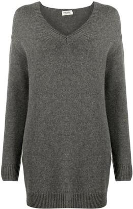 Saint Laurent V-neck knitted dress