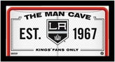"""Steiner Sports Los Angeles Kings Framed 10"""" x 20"""" Man Cave Sign"""