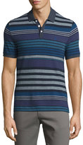 Original Penguin Stripe-Print Cotton Polo Shirt, Blue