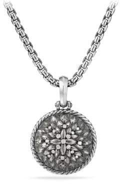 David Yurman Cable Collectibles Lotus Amulet With Diamonds