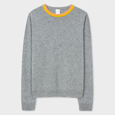 Paul Smith Women's Grey Cashmere Sweater With Contrast Collar
