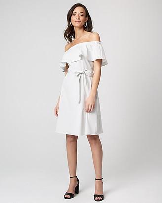 Le Château Stripe Off-the-Shoulder Dress