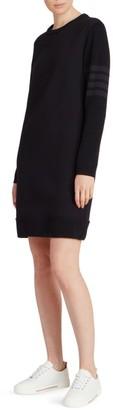 Thom Browne Classic Stripe-Sleeve Sweaterdress