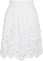 Etoile Isabel Marant Sara broderie anglaise cotton mini skirt
