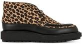 Sacai leopard print boots
