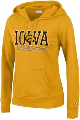 Champion NCAA Women's Comfy Fitted University Fleece Hoodie Iowa Hawkeyes Large