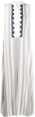 ZEUS + DIONE Sleeveless Buttoned Mandarin Collar Dress