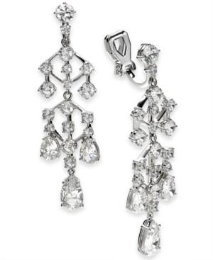 Eliot Danori Cubic Zirconia Chandelier Clip-On Drop Earrings, Created for Macy's