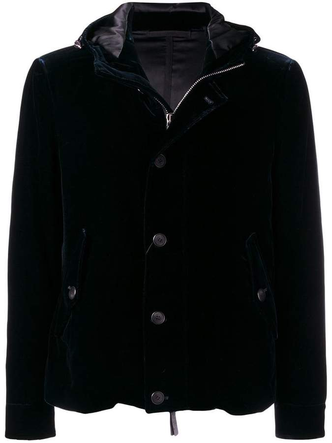 Giorgio Armani hooded buttoned jacket